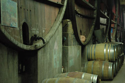 Red wines are aged on lees in a selection of French Oak barrels