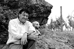 Photo of Jean-Luc Colombo on his vineyard